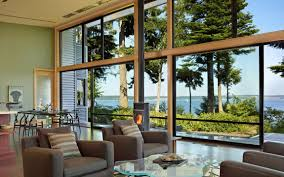 Waterfront Home Design Ideas Amazing Glass Walls Design Ideas With Tree Painting Inspiration
