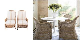 wicker dining room chairs 5 ways to use outdoor pieces indoors v i y e t