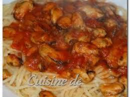 comment cuisiner des moules congel馥s spaghetti aux moules et sauce tomate par fadilab