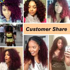 8 Inch Human Hair Extensions by Ombre Curly Hair Extensions Two Tone Ombre Human Hair Weft 4pcs 8