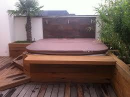 jacuzzi bois exterieur pour terrasse amenagement exterieur bois terrasse duppigheim strub bois