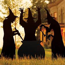 martha stewart living three witches silhouette halloween