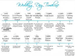 wedding planner agenda wedding ceremony timeline wedding ideas photos gallery