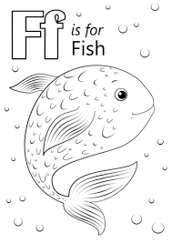 Letter F Is For Fish Coloring Page Free Printable Coloring Pages Sw Coloring Page