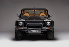 supercar suv we look back at how lamborghini came to build its first suv the lm002