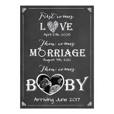 baby announcement cards pregnancy announcement card marriage baby zazzle