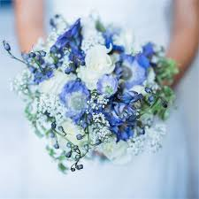blue wedding bouquets wildflower wedding bouquet danielle matt s real wedding real