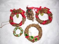 handcrafted small grapevine wreath ornament 5 00 via etsy