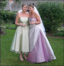 one stop wedding purple and white wedding dress