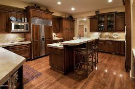 traditional kitchen with glass panel hardwood floors in tucson