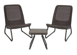 keter rio 3 pc all weather outdoor patio garden conversation chair