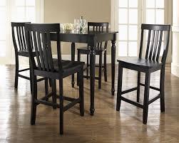 Black Bar Height Dining Table Set Mesmerizing High Dining Room - Kitchen bar table set
