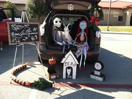 nightmare before trunk or treat decoration made from