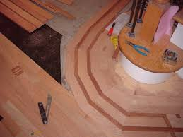 Laminate Flooring Around Stairs Wood Floor Inlays Borders U0026 Design Mr Floor Chicago Il