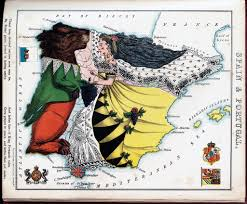Map Of Spain And Portugal Personification Of Spain And Portugal Map Edited Old Map O U2026 Flickr