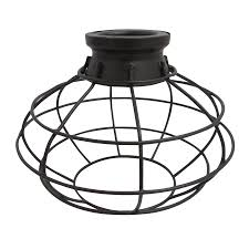 Metal Ceiling Light Shades Shop Portfolio 6 75 In H 8 In W Bronze Wire Industrial Cage