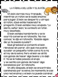 the lion and the mouse in spanish by the bilingual teacher store
