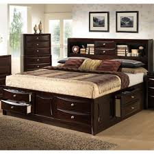 queen storage bed with bookcase headboard 631