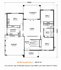 modern contemporary floor plans modern caribbean style house plans