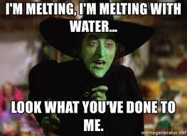 Wizard Of Oz Meme Generator - i m melting i m melting with water look what you ve done to me