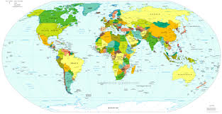 World Map With Cities Download Large World Map With Countries Major Tourist