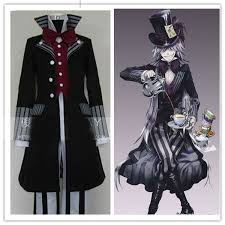 Black Butler Halloween Costumes Black Butler Undertaker Death Suit Cosplay Costume Men Anime