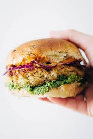 spicy cauliflower burgers recipe pinch of yum