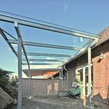 balkon stahlkonstruktion preis terrassendach aus feuerverzinktem stahl und sicherheitsglas preis
