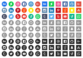 50 high quality free social media icons