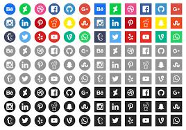 50 high quality free social media icons