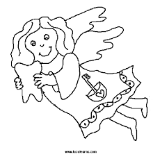 special children coloring tooth fairy coloring tooth