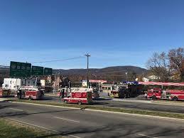 firefighters battle blaze at salem gas station salem va news