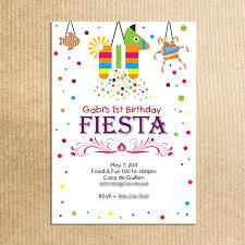 childrens fiesta birthday party invitation stationery by