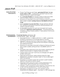 Resume Job Summary by Real Estate Agent Job Description Resume Resume For Your Job