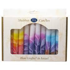 shabbot candles colorful safed shabbat candles
