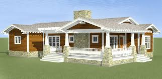 plan 34006cm 3 bed bungalow with porches on 3 sides bungalow