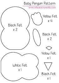 felt penguin pattern u2026 pinteres u2026