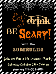 Halloween Birthday Ecards Halloween Party Invitations U2013 Gangcraft Net