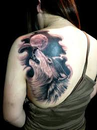 18 howling wolf tattoo designs images and photos 24 simple wolf