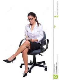 Secretary Desk Chair by Secretary Sat On An Office Chair Taking Notes Stock Photos