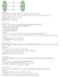 Std 2 Maths Worksheets Ncert Solutions For Class 11th Maths Chapter 2 U2013 Relations And