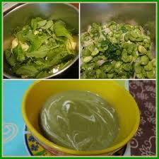 cuisiner les fanes de radis velouté vert fèves et fanes de radis recette iterroir