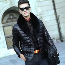 mens leather biker jacket leather jacket men fur coat biker jacket motorcycle 2016 fashion