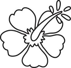 Coloring Pages Clipart Image Hibiscus Coloring Page Surfboard Coloring Page