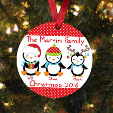 penguin ornament personalized penguin family ornam
