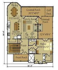 cottage floorplans floor plan garage story less plan basement chalet house ranch open