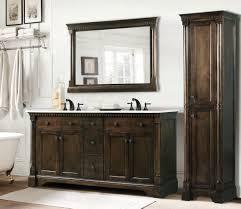 Rustic Vanity Table Bathroom Antique Bathroom Vanity Set With Coffee Finish Tips