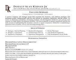 general resume summary of qualifications exles for resume summary for resumes executive summary resume business development