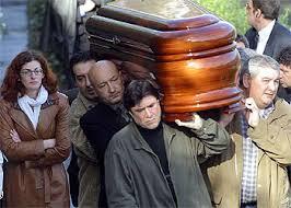 Conducción del cadáver de Joseba Pagazaurtundua, asesinado por ETA