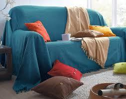 plaid jeté de canapé plaid jeté housses coussin et housses d oreiller unis en coton